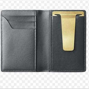 Georg Jensen Denmark Card Wallet Money Clip Gray